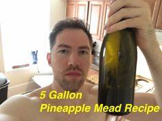 This is my recipe for 5 gallons of pineapple mead that I used to make a tremendous mead. You will get a very tasty fruity mead that is perfect for those summertime festivals. Beer Recipes, Alcohol Recipes, Beer Brewing, Home Brewing, Essential Oil Still, Pineapple Beer, Honey Mead, Mead Wine, Mead Recipe