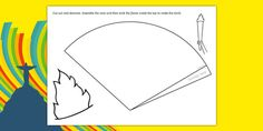 Make Your Own Olympic Torch - Olympics, Olympic Games, sports, Olympic, London, 2012, creative, design, draw, how to make your own Olympic…