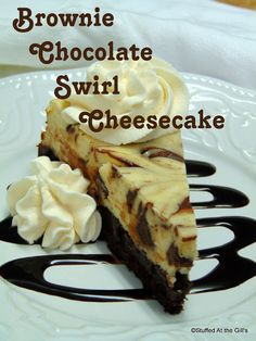 Stuffed At the Gill's: Brownie Chocolate Swirl Cheesecake