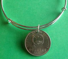 Birthday charm Bracelet, 1995 Chinese Yuan, Personalise the bracelet with choice of initials or Birthstone 25th Birthday, Birthstones, Initials, Irish, Coins, 21st, Charmed, Bracelets, Gifts