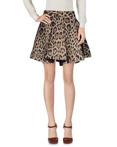 ROBERTO CAVALLI Mini Skirt. #robertocavalli #cloth #dress #top #skirt #pant #coat #jacket #jecket #beachwear #