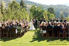 St Regis Deer Valley a perfect location to get married no matter the season! www.destinationweddinggurus.com