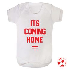 England Baby Vest, England World Cup. Russia world, baby football vest. Footballs coming home. It's coming home, baby football outfit Baby Football Outfit, Football Baby, Keepsake Baby Gifts, New Baby Gifts, 1st Birthday Gifts, Cake Smash Outfit, Baby Wall Art, Baby Vest, Toddler Gifts