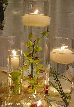 Submerged Centerpiece Inspiration - Project Wedding