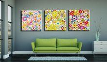 3 Panel Modern art painting Takashi Murakami sun oil painting decoration wall art for Canvas Artwork Wall Decorative painting (China (Mainland))