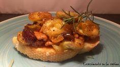 Experimento en la cocina: TOSTA DE ALCACHOFAS CON FRUTOS SECOS CARAMELIZADOS...