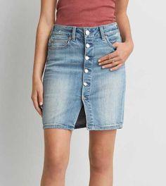 AEO Hi-Rise Denim Skirt