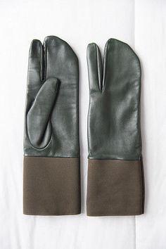 Maison Martin Margiela leather Tabi gloves