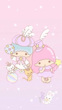 Sanrio Little Twin Stars ❤ My Melody Wallpaper, Sanrio Wallpaper, Star Wallpaper, Hello Kitty Wallpaper, Wallpaper Iphone Disney, Kawaii Wallpaper, Little Twin Stars, Little Star, Sanrio Characters