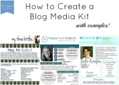 How to create a blog media kit with examples via thegrantlife.com