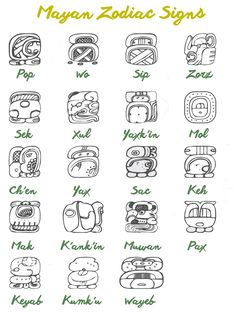 The ancient Maya were fampous for their astrology. Read the article to discover your personality through you Mayan Zodiac Sign. Mayan Astrology, Mayan Zodiac, Astrology Zodiac, Zodiac Signs, Mayan Glyphs, Mayan Symbols, Aztec Symbols, Viking Symbols, Egyptian Symbols
