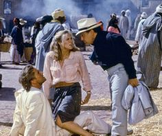 """Michael Douglas, Kathleen Turner and Danny DeVito in """"The Jewel of the Nile"""" (1985)"""