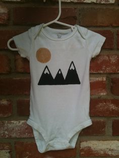 Hey, I found this really awesome Etsy listing at https://www.etsy.com/listing/157375018/modern-mountain-onesie-hand-painted