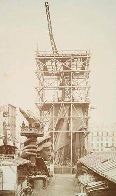 The Statue's Steel Structure Was Designed byEiffel  A Steel Interior Skeleton Supported theStatue    Bartholdi asked the French engineer Gustave Eiffel to design a steel skeleton for the interior of the Statue of Liberty.