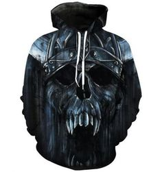 Horror skull face hoodie mens plus size clothing,made of polyester,so cool big skull pattern sweatshirt with hood for Halloween and Christmas Day wear,size from m to mens skull hoody pullover design for teenage guys or girls,it is unisex. Printed Sweatshirts, Hooded Sweatshirts, Hoodies, Skull Fashion, Men Fashion, Metal Skull, Skull Hoodie, Pullover Designs, Movie T Shirts