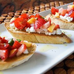 Strawberry Nectarine Bruschetta