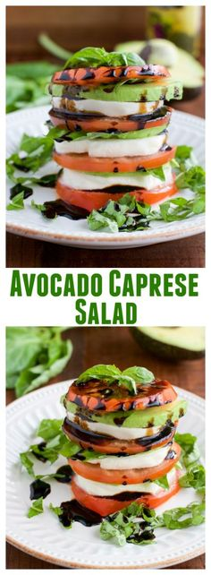 Avocado Caprese salad is a simple side dish that's loaded with flavor! The avocado slices add an extra layer of creaminess, and the balsamic glaze gives a tangy touch that everyone will love.