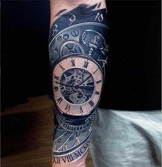 Clock tattoo by ata ink time tattoos, dream tattoos, future tattoos, sleeve