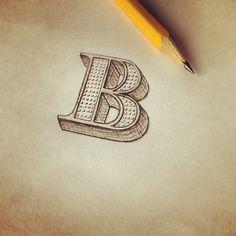 """B"" sketch"