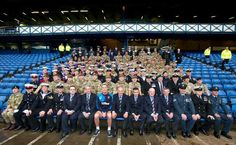 Armed forces day at Ibrox, 12/09/2015.