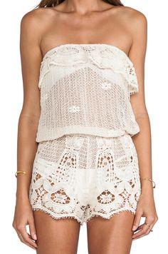 Boho lace beach coverup