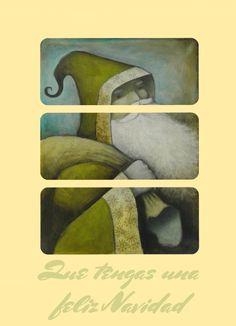 Santa claus verde, que tengas una feliz Navidad