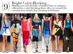 Milan Spring 2014 Top Trends - Bright Color-Blocking