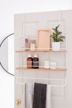 Slide View: 1: Over-The Door Tiered Storage Rack