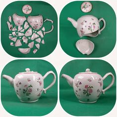 Restoration of Meissen teapot, sec. XVIII #restauro #porcellana #porcelaine #ceramics