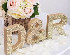 Wooden Letters Wedding Sign Standing Wedding Initials - Personalized Table Signs - Initials 2 Letters and Ampersand (Item - Personalized, freestanding initial letters sets are the perfect addition to your wedding reception sweetheart table deco. Wedding Reception Signs, Wedding Letters, Wedding Initials, Wedding Props, Diy Wedding, Wedding Day, Trendy Wedding, Wedding Cakes, Wood Initials