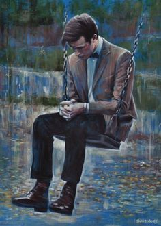 Image result for a man alone painting