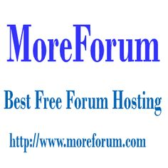 Creating a new free forum takes less than 30 seconds . MoreForum — is a free, professional grade software package that allows you to create up your own online forum within minutes. Join Morefoum.com on the Internet's largest, most enjoyed free forum hosting service.
