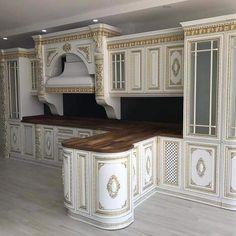 Kitchen Room Design, Kitchen Cabinet Design, Modern Kitchen Design, Kitchen Decor, Home Design Decor, House Design, Home Decor, Craftsman Style Interiors, Classic Kitchen Cabinets