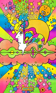 "Peter Max - turn the black light on, and crank up Deep Purple ""Highway Star"""