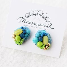 6/22 fri - 27wed 時間:… Beaded Earrings, Place Cards, Place Card Holders, Bead Earrings, Pearl Earrings