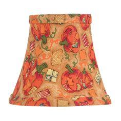 Pumpkin Harvest Silk Bell Clip Chandelier Shade
