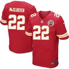 Nike Kansas City Chiefs Mens #22 Dexter McCluster Elite Red Team Color NFL Jersey