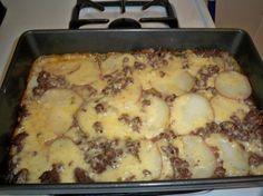 Hamburger Potato Cheese Casserole