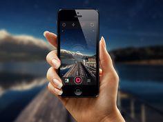 iOS7 Photo Camera by Leonard Latescu, via Behance