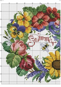 This Pin was discovered by Ava Cross Stitch Tree, Mini Cross Stitch, Cross Stitch Cards, Cross Stitch Borders, Cross Stitch Flowers, Cross Stitch Designs, Cross Stitching, Cross Stitch Embroidery, Cross Stitch Patterns