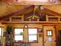 Interior Amish Cabin | ... 12' cabin shown with full kitchenette & 3' X 4' changing room