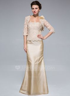Mother of the Bride Dresses - $142.99 - Mermaid Strapless Floor-Length Taffeta Lace Mother of the Bride Dress With Beading (008018959) http://jjshouse.com/Mermaid-Strapless-Floor-Length-Taffeta-Lace-Mother-Of-The-Bride-Dress-With-Beading-008018959-g18959