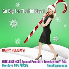 Happy #Holidays from @MargHelgen and #IntelligenceCBS!: