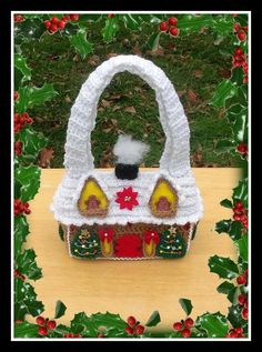 Gingerbread House Purse Crochet Pattern.This Is Not A Flat