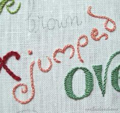 hand embroider lettering