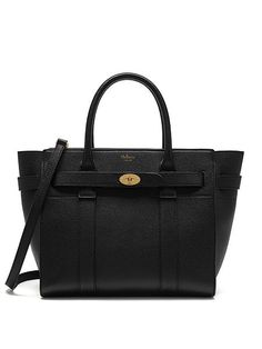 online store aab7c 4aa88 2017 New Mulberry Small Zipped Bayswater Tote in Black Small Classic Grain   Mulberry - - Mulberry UK-Mulberry Handbags UK Shop