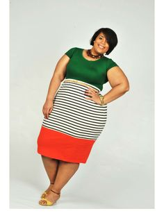 {Tangerine} REAL Curvy Girl inspiration from Chastity Valentine, her blog: The Curvy Girl's Guide To Style