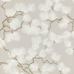 Papier peint Pine gris et blanc - Collection Nippon - Sandberg Plains Background, Gray Background, Boutique Deco, Pine Branch, Tree Wallpaper, Designer Wallpaper, Scandinavian Design, Decoration, Home