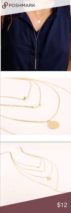 Dainty Gold Layered Necklace Sexy Teardrop layered necklace!                                   ❌ No trades  🙋🏼 PRICE FIRM  👌🏼Bundle three or more and get 10% off Jewelry Necklaces
