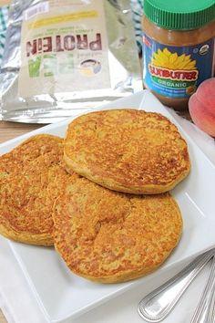 Plump Protein Pancakes 40g (1/3 cup) wholegrain buckwheat flour 20g (1 scoop/2 servings) pea protein 125ml (1/2 cup) almond milk 1/3 cup (100g) pumpkin puree 1/2 tsp vanilla extract 1/4 tsp cinnamon 1 tsp baking powder 1 tbsp (7g) whole chia seeds 1 tbsp maple syrup (optional)